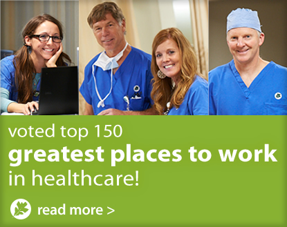 OakLeaf Surgical Hospital voted top 150 greatest places to work in healthcare!